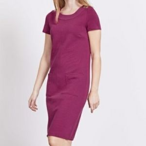 Boden Hermione Ottoman Shift Dress Mauve Size 8